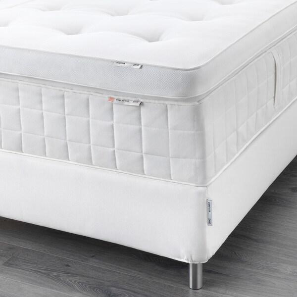 ESPEVÄR Čalúnená posteľ, Hyllestad stredne tvrdý/Tustna biela, 90x200 cm