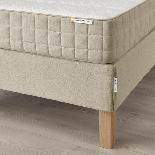 ESPEVÄR Čalúnená posteľ, Mausund stredne tvrdý/prírodná, 90x200 cm