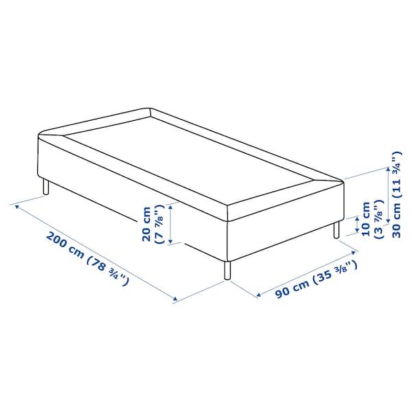 ESPEVÄR Pružinová základňa matraca s nohami, biela, 90x200 cm