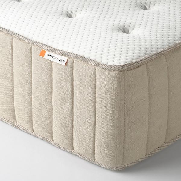 ESPEVÄR/VATNESTRÖM Čalúnená posteľ, veľmi tvrdý/prírodná, 140x200 cm