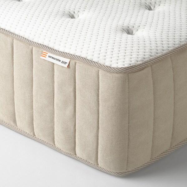 ESPEVÄR/VATNESTRÖM čalúnená posteľ tvrdý/Tistedal prírodná 200 cm 72 cm 200 cm 160 cm