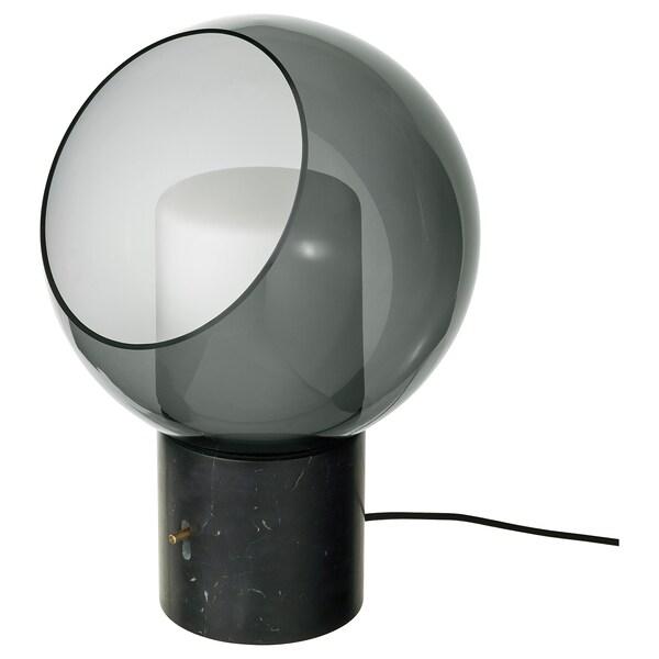 EVEDAL stolová lampa mramor/sivá guľa 5.7 W 400 lm 280 mm 394 mm 134 mm 2.0 m 5.7 W