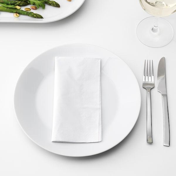 FANTASTISK papierové obrúsky biela 40 cm 40 cm 100 ks