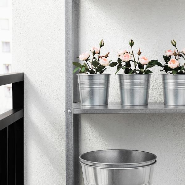 FEJKA Umelá rastlina v kvetináči, na von/dnu/ruža ružová, 9 cm