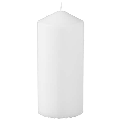 FENOMEN neparfumovaná sviečka biela 15 cm 6.8 cm 45 hr