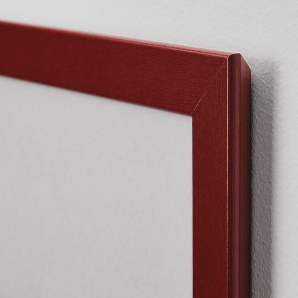 FISKBO Rám, tmavočervená, 21x21 cm