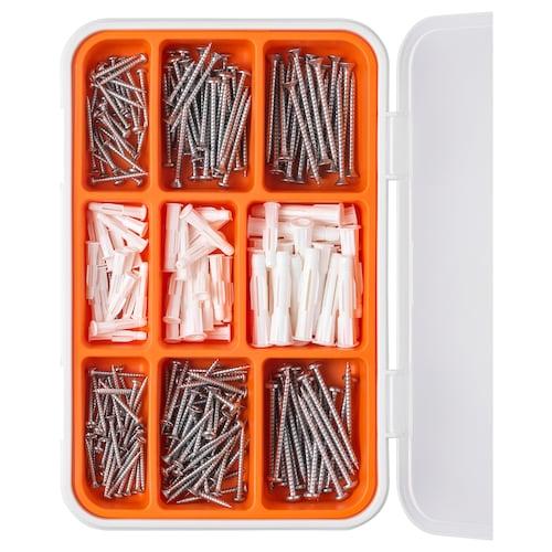 IKEA FIXA 260 ks set skrutiek a hmoždiniek