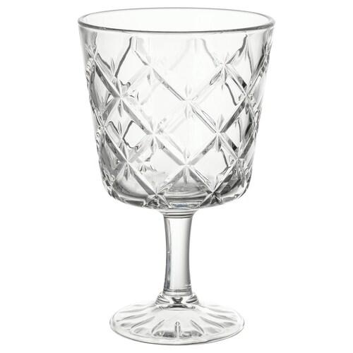 FLIMRA pohár číre sklo/vzorovaný 13.7 cm 23 cl