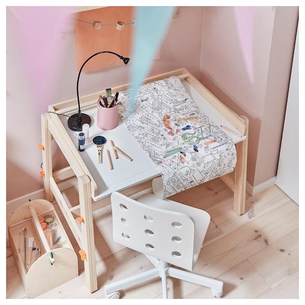 FLISAT detský stôl nastaviteľné 92 cm 67 cm 53 cm 72 cm