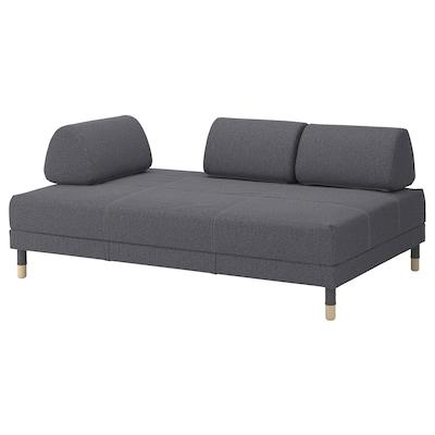 FLOTTEBO Pohovka/posteľ, Gunnared stredne sivá, 120 cm