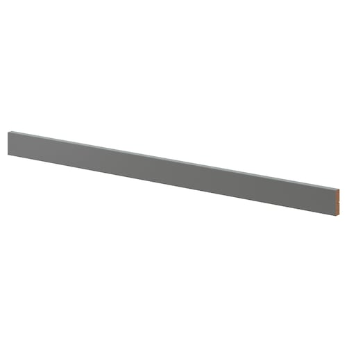 FÖRBÄTTRA deko lišta/zaoblená tmavosivá 221 cm 6.1 cm 1.9 cm