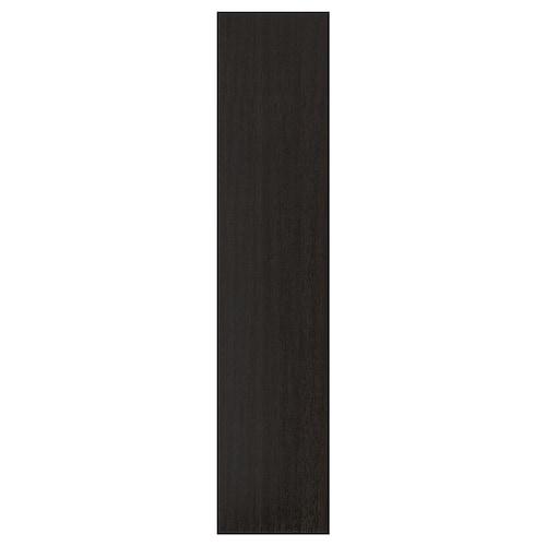 FORSAND dvierka s pántmi čiernohnedý morený jaseň vzor 49.5 cm 229.4 cm 236.4 cm 1.8 cm
