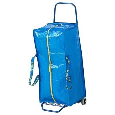 FRAKTA vozík s kufríkom/úl priest modrá