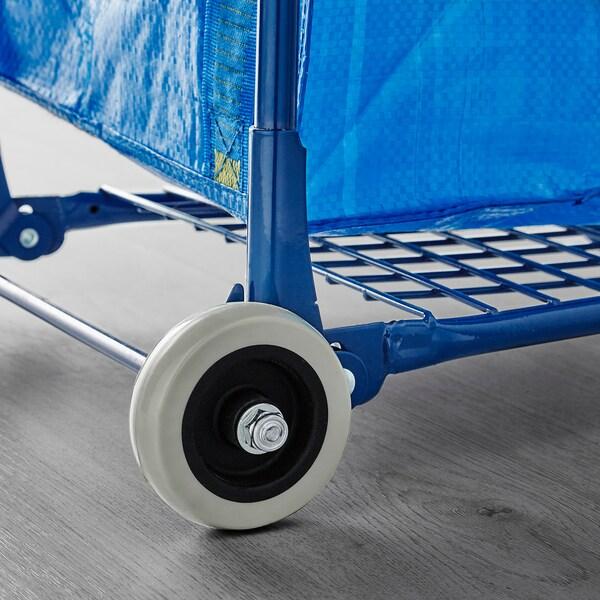 FRAKTA Vozík s kufríkom/úl priest, modrá