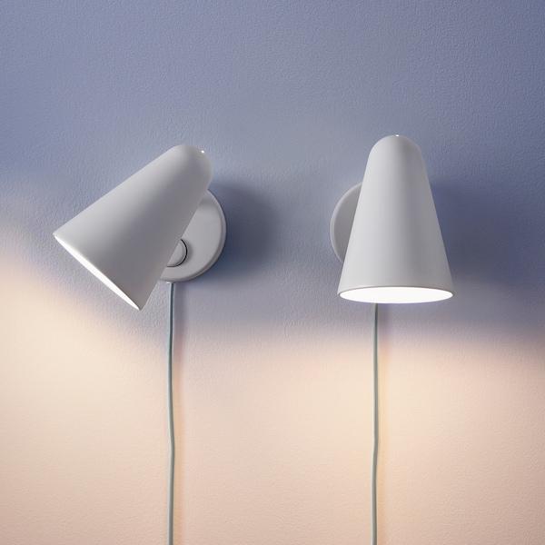 FUBBLA LED nástenná  lampa, biela