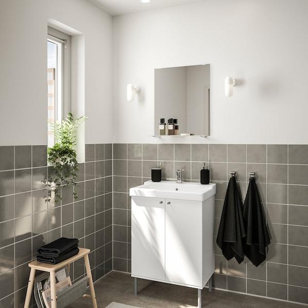 FULLEN / TÄLLEVIKEN nábytok do kúpeľne, súprava 5ks biela/Batérie OLSKÄR 61 cm