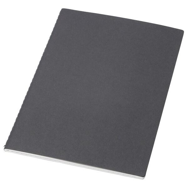 FULLFÖLJA zápisník čierna 40 kusov 21.0 cm 14.5 cm 0.5 cm 80 g/m²