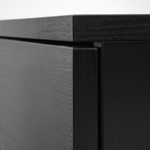 GALANT Skrinka s dverami, jaseňová dyha čierny lak, 80x120 cm