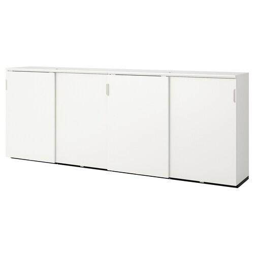 GALANT úložná zostava s posuv. dvierkami biela 320 cm 45 cm 120 cm 30 kg