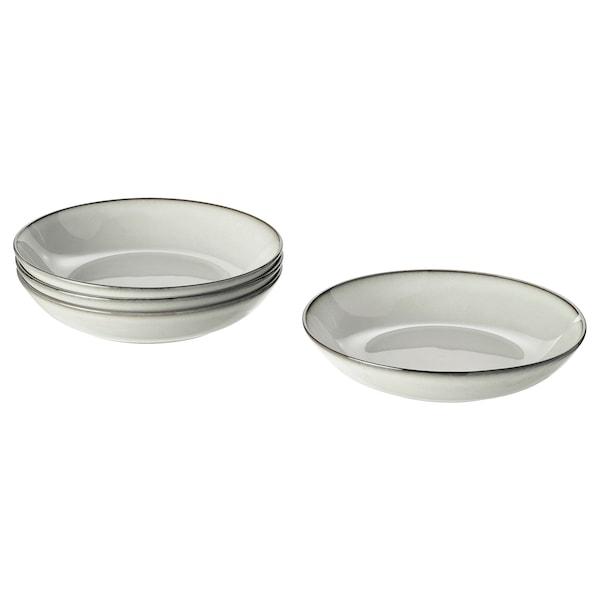 GLADELIG hlboký tanier sivá 21 cm 4 ks