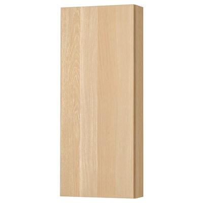 GODMORGON Nástenná skrinka/ 1 dvierka, bielo morený dub vzor, 40x14x96 cm