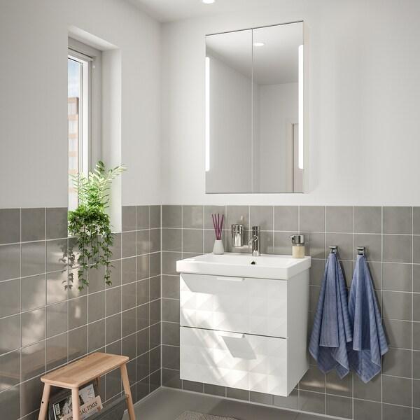 GODMORGON / ODENSVIK nábytok do kúpeľne, súprava 4ks Resjön biela/Batérie DALSKÄR 63 cm 60 cm 49 cm 89 cm