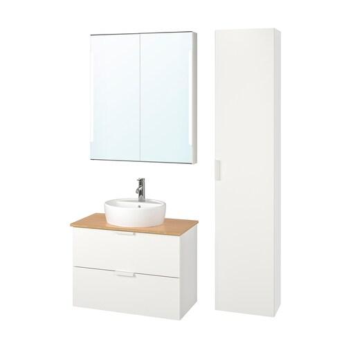 IKEA GODMORGON/TOLKEN / TÖRNVIKEN Nábytok do kúpeľne, súprava 6ks