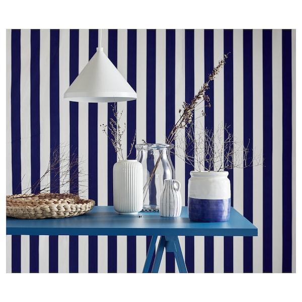 GODTAGBAR váza keramický biela/modrá 18 cm 15 cm