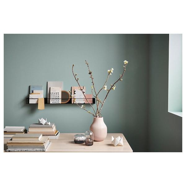 GRADVIS Váza, ružová, 21 cm