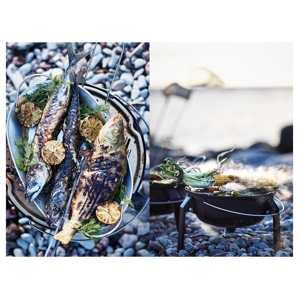 GRILLTIDER Podnos na barbecue, nehrdzavejúca oceľ, 31x21 cm