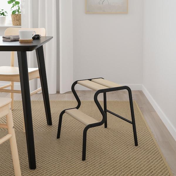GRUBBAN Schodíky, čierna/breza