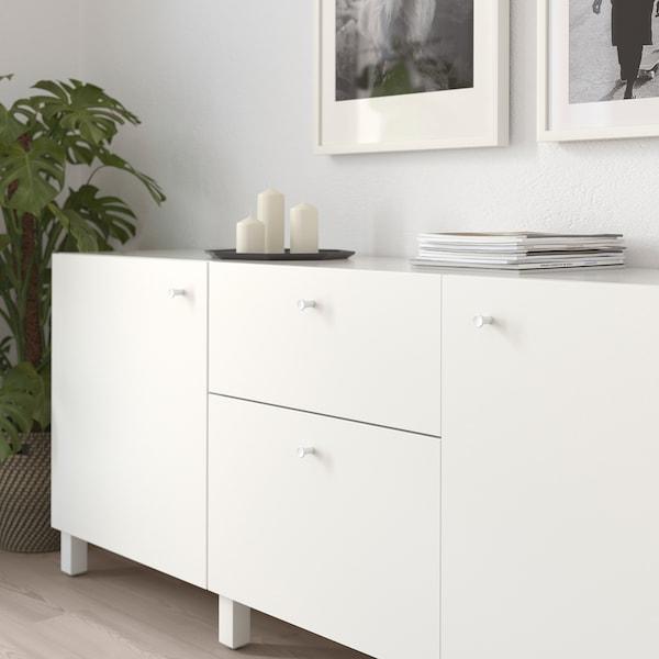GUBBARP Úchytka, biela, 21 mm