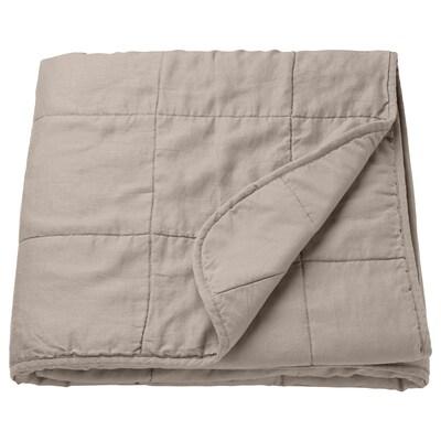 GULVED posteľná prikrývka prírodná 250 cm 180 cm