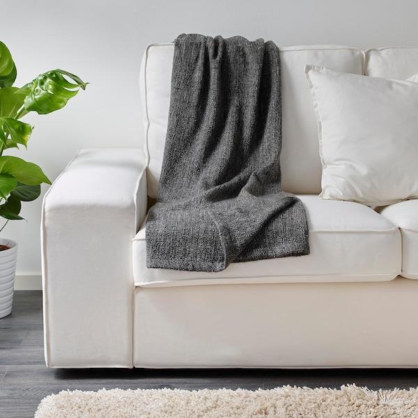 GURLI deka sivá/čierna 180 cm 120 cm