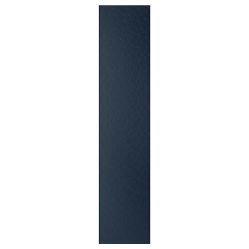 HAMNÅS dvierka s pántmi čierno-modrá 49.5 cm 229.4 cm 236.4 cm 1.6 cm