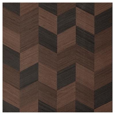 HASSLARP Dvere, hnedá vzorovaný, 60x60 cm