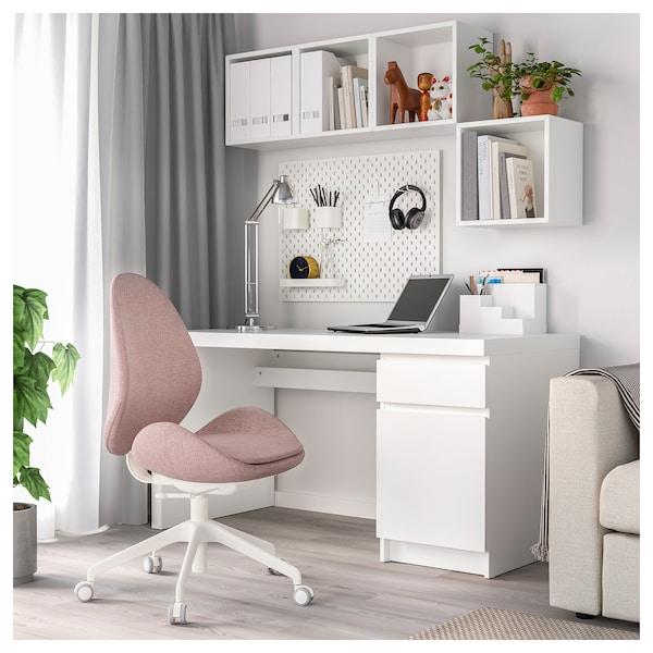 HATTEFJÄLL kancelárska stolička Gunnared svetlohnedá s ružovou 110 kg 68 cm 68 cm 110 cm 50 cm 40 cm 41 cm 52 cm