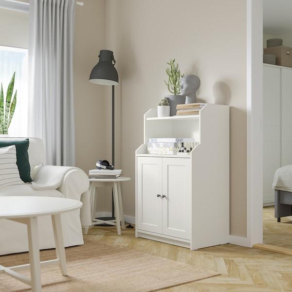 HAUGA Skrinka s 2 dverami, biela, 70x116 cm