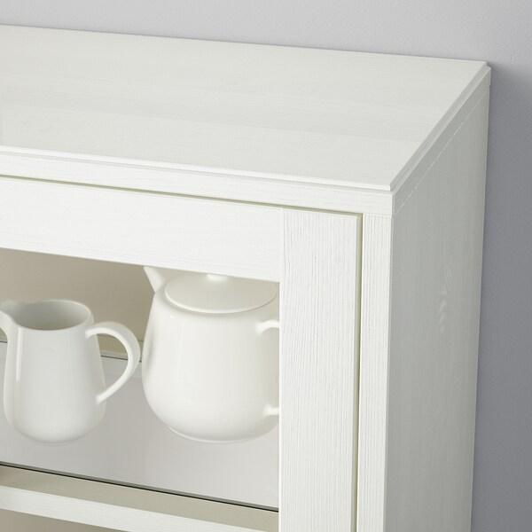 HAVSTA Úložná zostava so sklen. dvierkami, biela, 243x47x212 cm