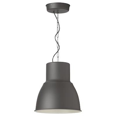 HEKTAR Závesná lampa, tmavosivá, 38 cm