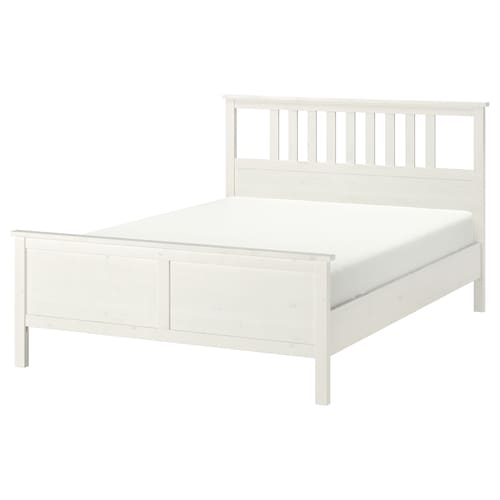 HEMNES rám postele bielo morené /Lönset 211 cm 174 cm 66 cm 120 cm 200 cm 160 cm