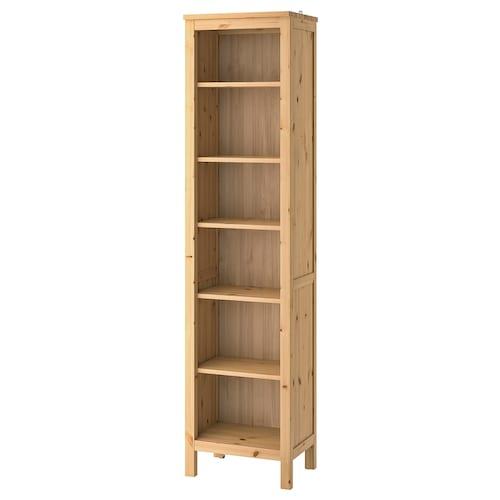 HEMNES knižnica svetlohnedá 49 cm 37 cm 197 cm 15 kg