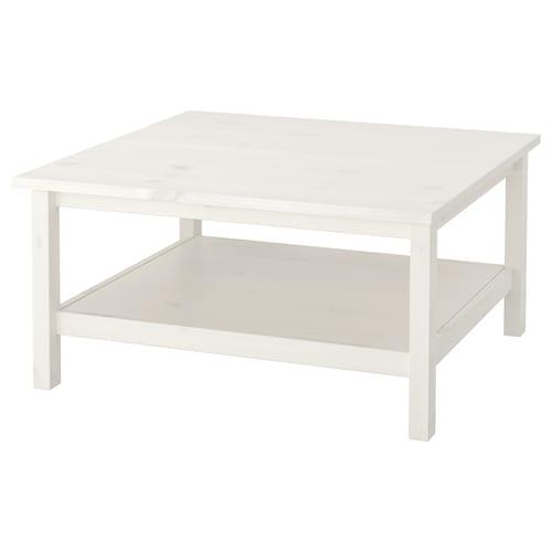HEMNES konferenčný stolík bielo morené  90 cm 90 cm 46 cm