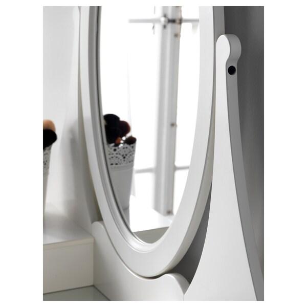 HEMNES toaletný stolík so zrkadlom biela 100 cm 50 cm 159 cm