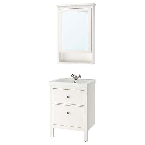 IKEA HEMNES / ODENSVIK Nábytok do kúpeľne, súprava 4ks