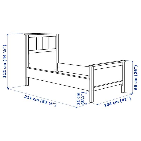 HEMNES Rám postele, čiernohnedá/Luröy, 90x200 cm