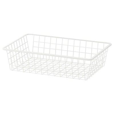 HJÄLPA Drôtený kôš, biela, 60x40 cm