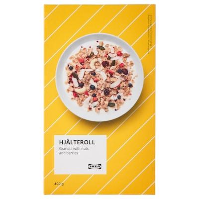 HJÄLTEROLL Granola, s orechmi a sušené bobuľové ovocie, 400 g