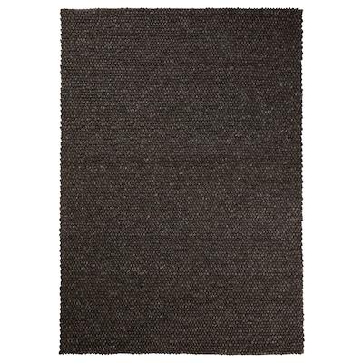 HJORTHEDE Koberec, vyrobené ručne/sivá, 170x240 cm
