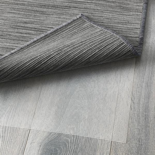 HODDE koberec, hladko tkaný, vnút/vonk sivá/čierna 300 cm 200 cm 5 mm 6.00 m² 1150 g/m²